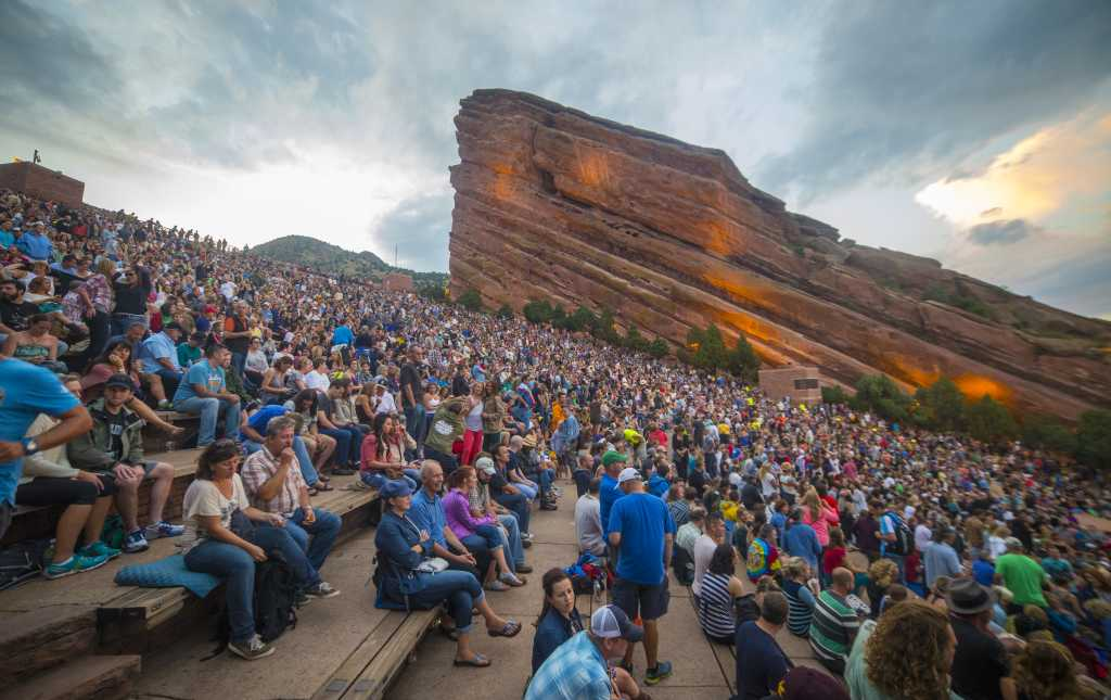 A Concert at Red Rocks Amphitheater